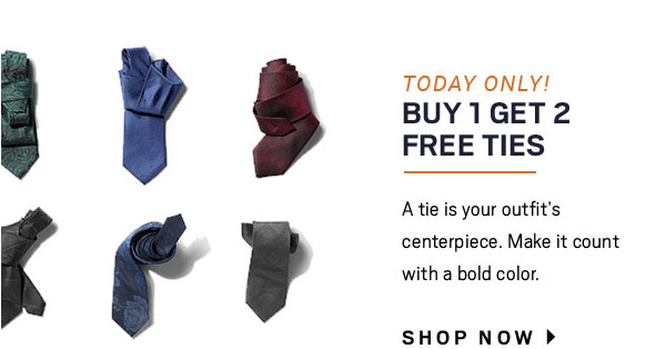 FINISHING TOUCH | ACCESSORIES THAT GET THE JOB DONE | TODAY ONLY! BOG2 TIES + Extra 50% Off Clearance Accessories + 2 for $25 Happy Socks + Extra 30% Off JOW Joseph Abboud Bags + PLUS MORE ON SALE - SHOP NOW