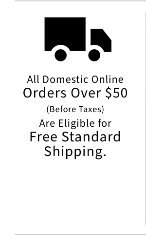 All Domestic Online Orders Over $50