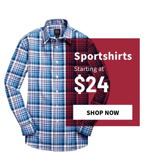 Sportshirts Starting at $24 - Shop Now