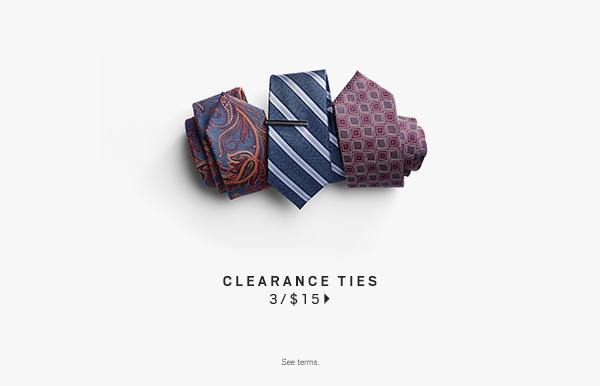 Clearance Ties 3 for $15