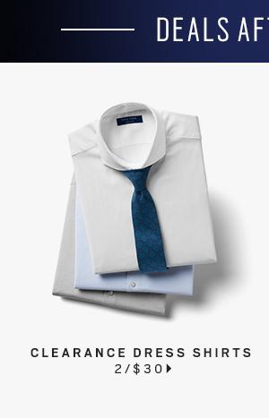 Clearance Dress Shirts 2/$30