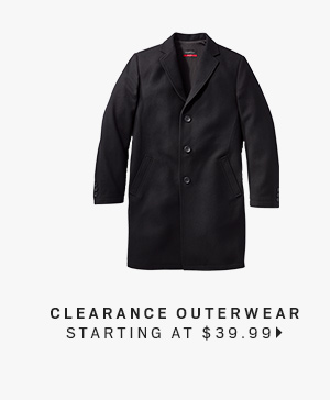 Clearance Outerwear starting at $39.99