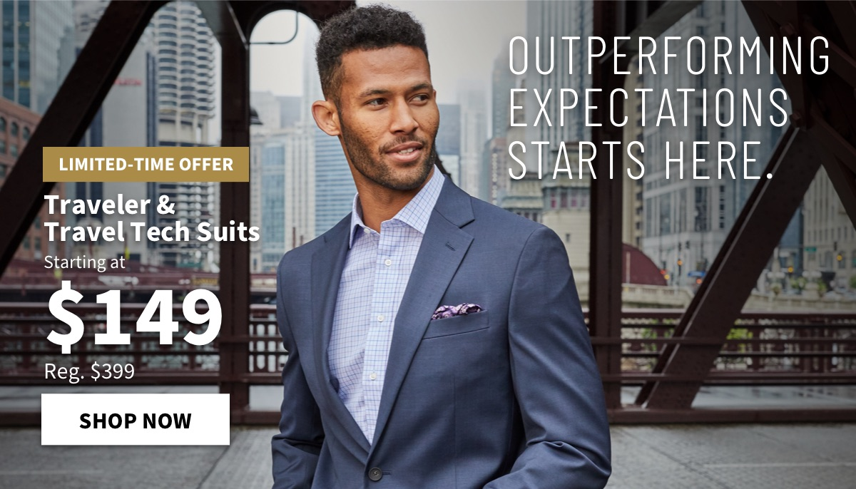 Traveler & Travel Tech Suits starting at $149 - Shop Now