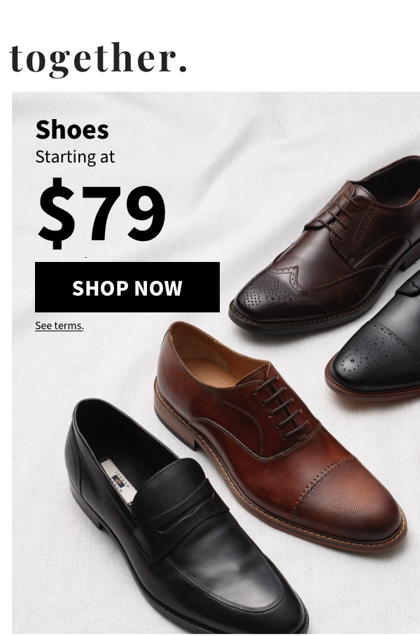Shoes Starting at $79 - Shop Now