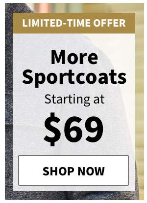 More Sportcoats Starting at $69 - Shop All