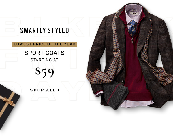 SPORT COATS STARTING AT $59.99 - Shop All