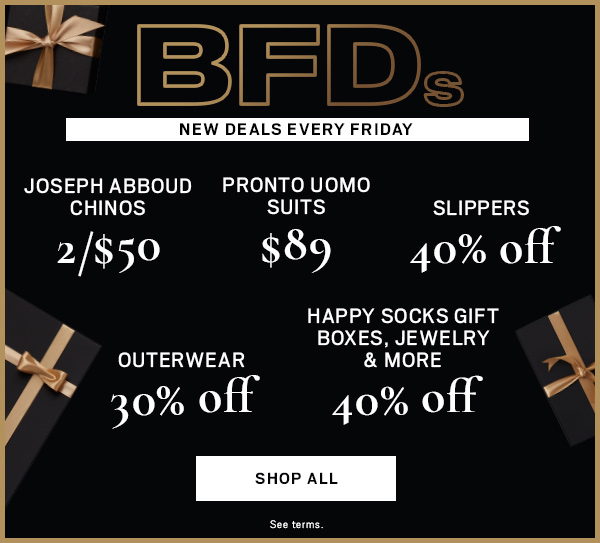 BFDs | NEW DEALS EVERY FRIDAY - SHOP ALL