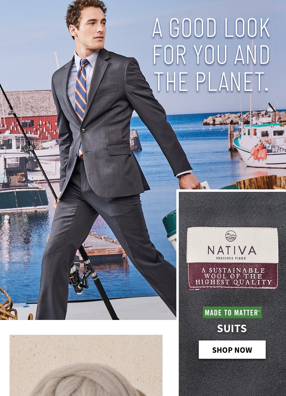 A GOOD LOOK FOR YOU AND THE PLANET|Made to Matter Suits -  Shop Now